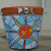 Mosaic sun pot - Houtbay