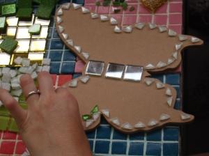 Mosaic butterfly design