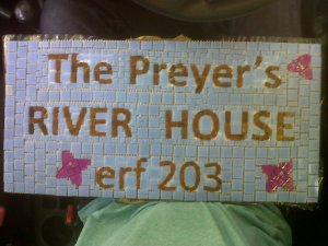 House number complete but ungrouted