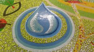 Mosaic water drop