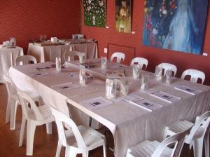 Class table at Casa Labia - Muizenberg