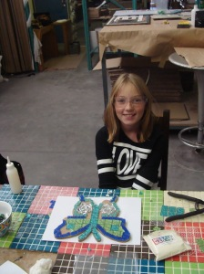 Young mosaic master in the making