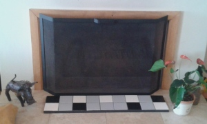 Fire place protector