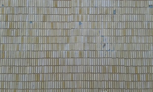 Rectangular mosaic tiled wall