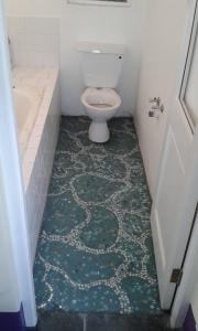 Installed mosaic floor